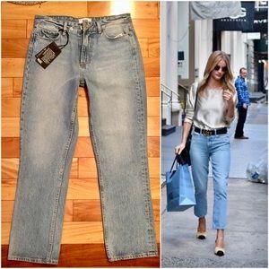 PAIGE High Rise Sarah Jeans Straight Sachi Mom 26